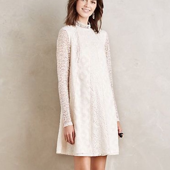 f80acd72b470 Anthropologie Dresses   Ivory Lace Dress   Poshmark